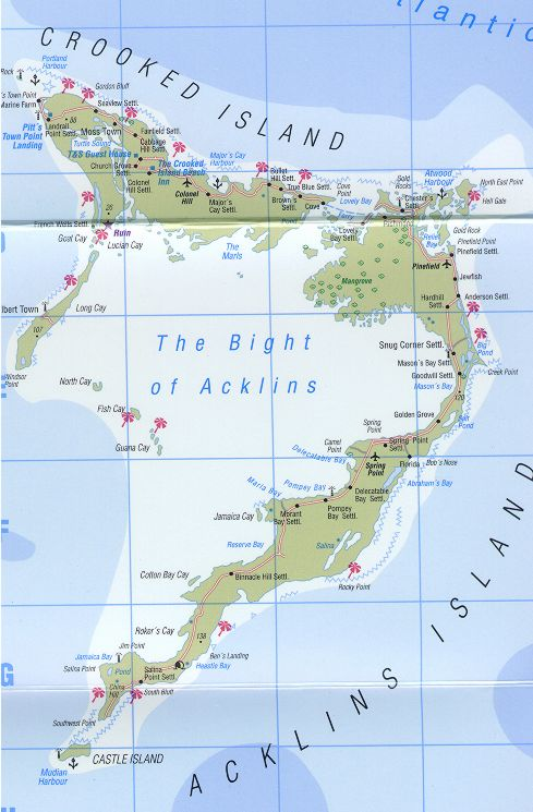 Map of crooked island bahamas and map of acklins island bahamas general map of crooked island bahamas map of acklins island bahamas gumiabroncs Gallery