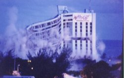 Imploding of Atlantik Beach Resort