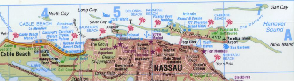Detailed city map of Nassau street map – Tourist Map Of Nassau Bahamas
