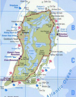 San Salvador Island Bahamas Map