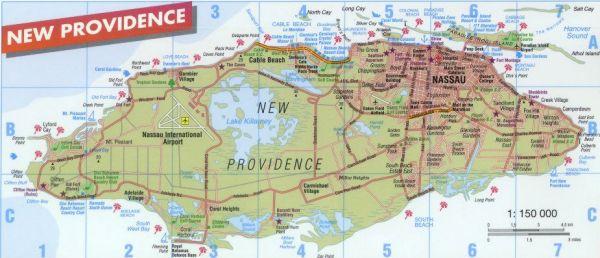 Map Of Nassau Map of Nassau/Paradise Island, Bahamas Map Of Nassau